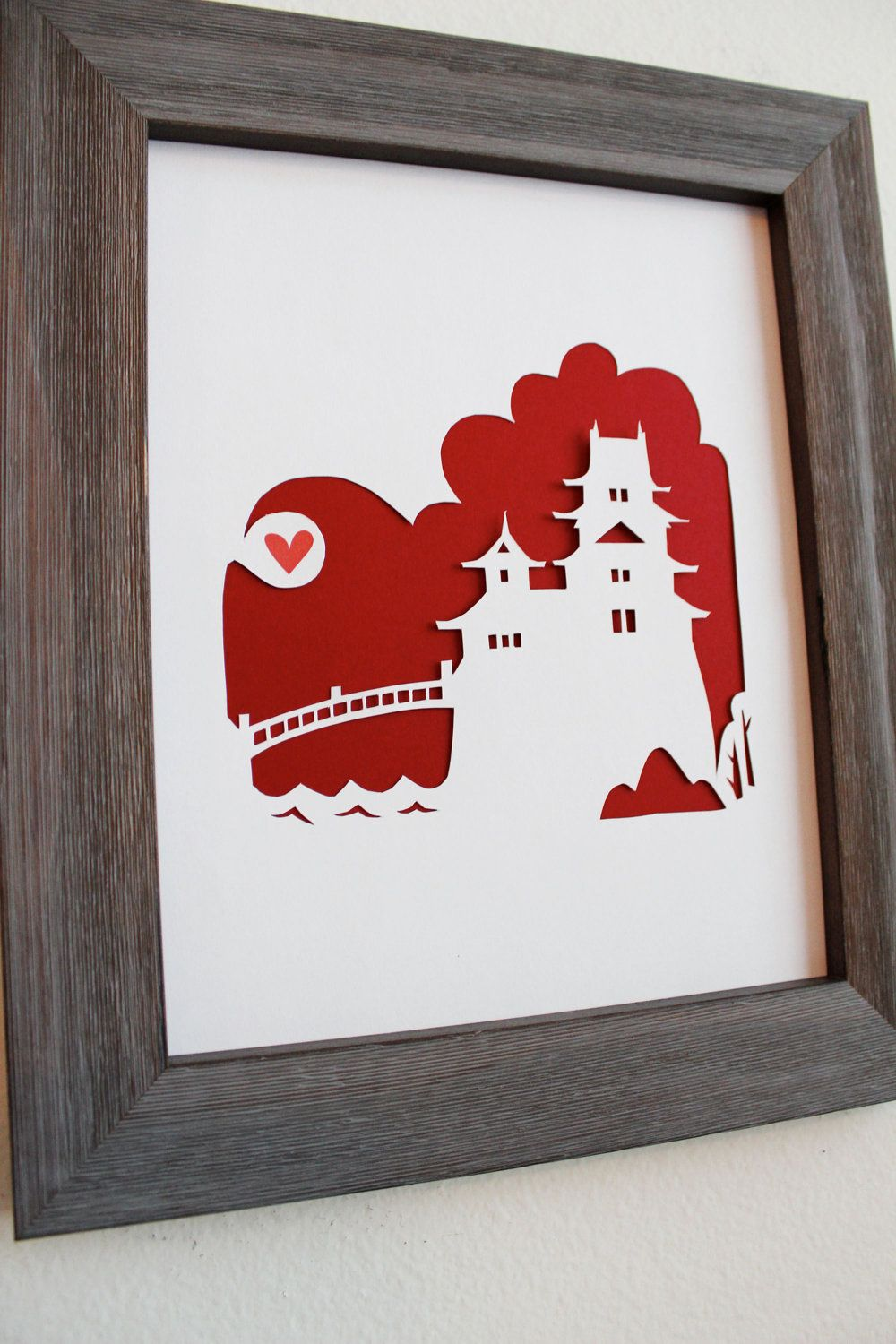 Japan - Japanese Castle. Personalized Gift or Wedding Gift. $26.00 ...