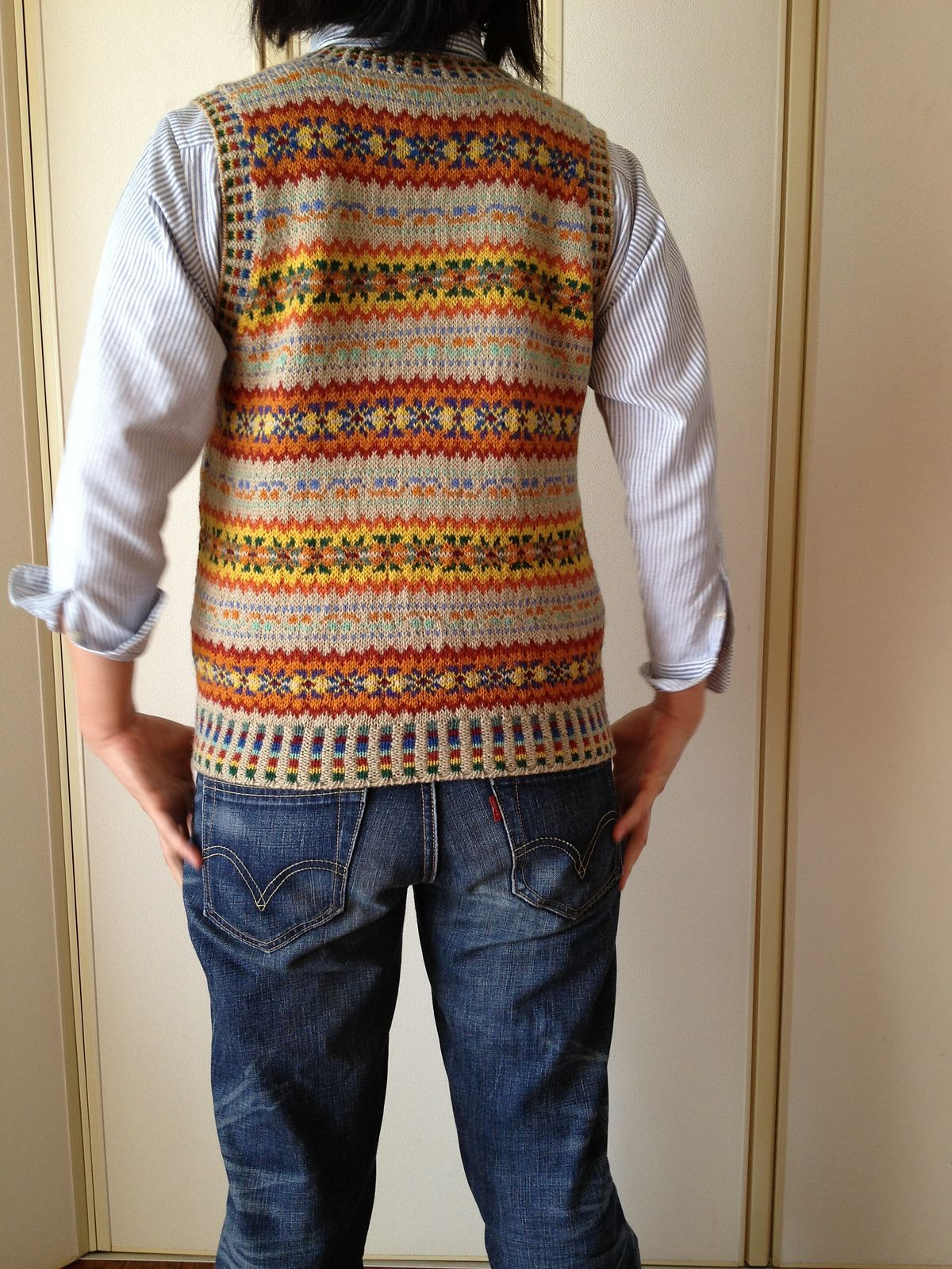 Ravelry: Project Gallery for p.15 Fair Isle Vest pattern by ...