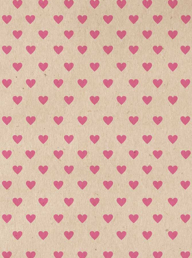 9682 Ivory Pink Hearts Backdrop