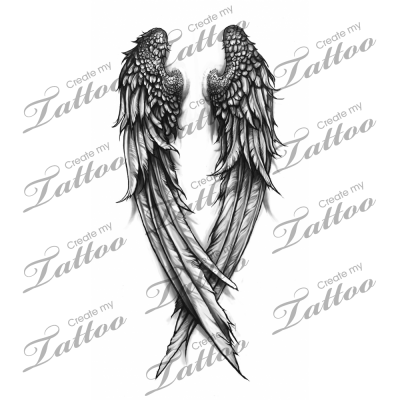 fallen angel wings custom tattoo wings 3 31308. Black Bedroom Furniture Sets. Home Design Ideas