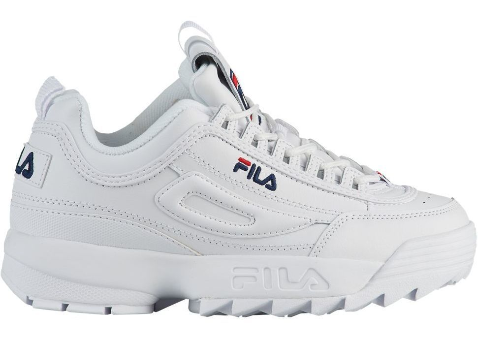 Fila Disruptor II Premium Culoarea White/Navy/Red in 2019 | Follow ...