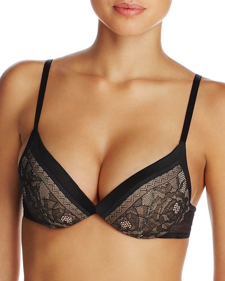 7e901b9a98c45f Calvin Klein Black Obsession Plunge Push-Up Bra