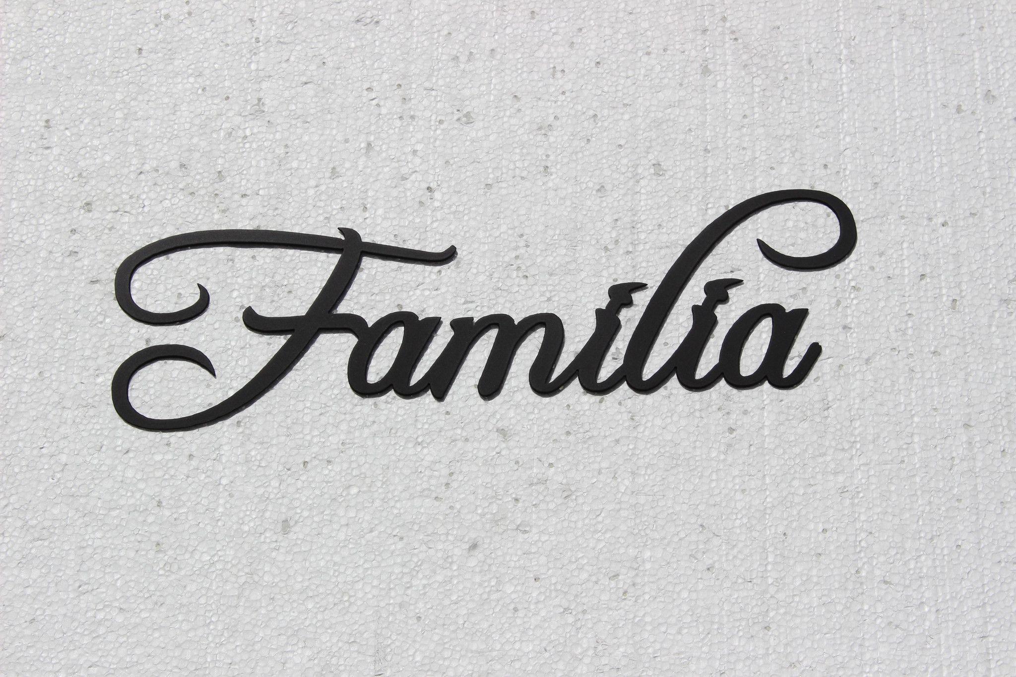 Familia Word Spanish Word For Family Black Metal Wall Art