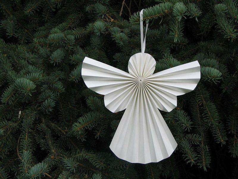 christbaumschmuck selber machen engelchen aus papier christmas ornaments pinterest. Black Bedroom Furniture Sets. Home Design Ideas