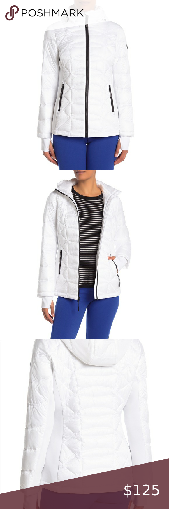 Michael Kors Missy Puffer Jacket Color White Size Small Shell 100 Polyester Lining 100 Puffer Coat With Hood Blue Puffer Jacket Faux Fur Bomber Jacket [ 1740 x 580 Pixel ]