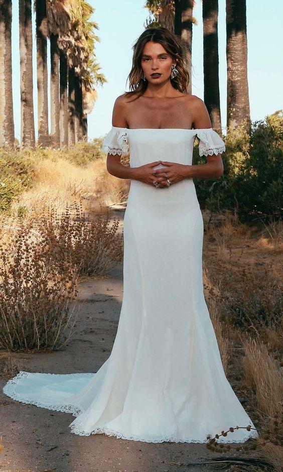 shop bohemian wedding dress