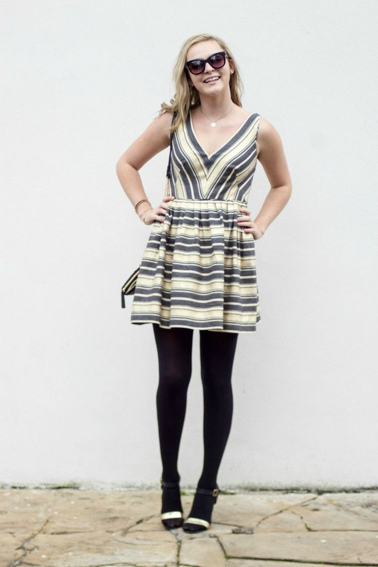 J crew striped party dress the influenceher collective