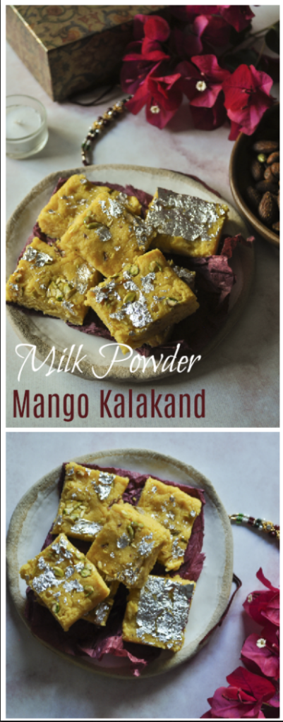 Milk Powder Mango Kalakand Recipe Easy Quick Recipe Recipe Kalakand Recipe Indian Dessert Recipes Sweet Desserts