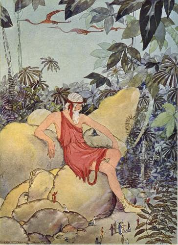 Antaeus and the Pygmies - Tanglewood Tales by Nathaniel Hawthorne, 1921