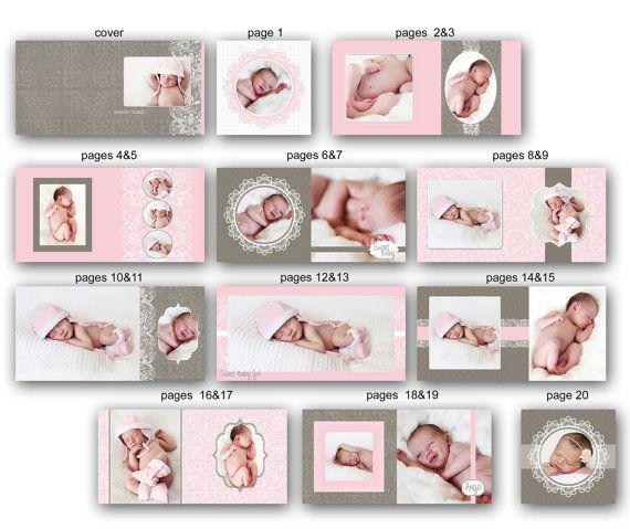 Baby Album Template Annabelle 0712 Fa Baby Album Wedding Album Templates Photo Album Design
