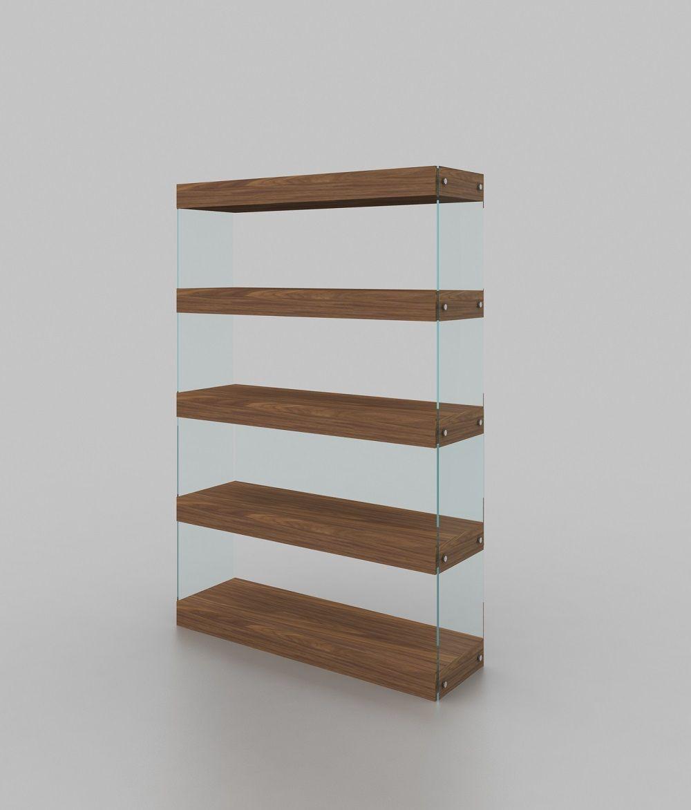 Glass Bookcase, Unique Wood Furniture