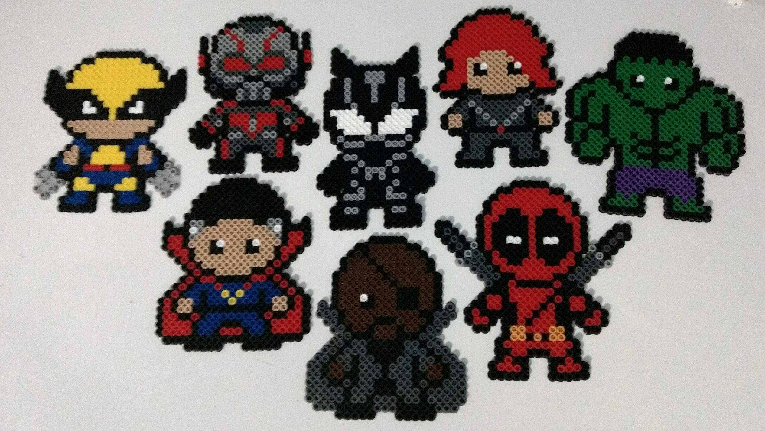 Marvel comics superhero perler bead by Mattsterpieces on ...   Superhero Fuse