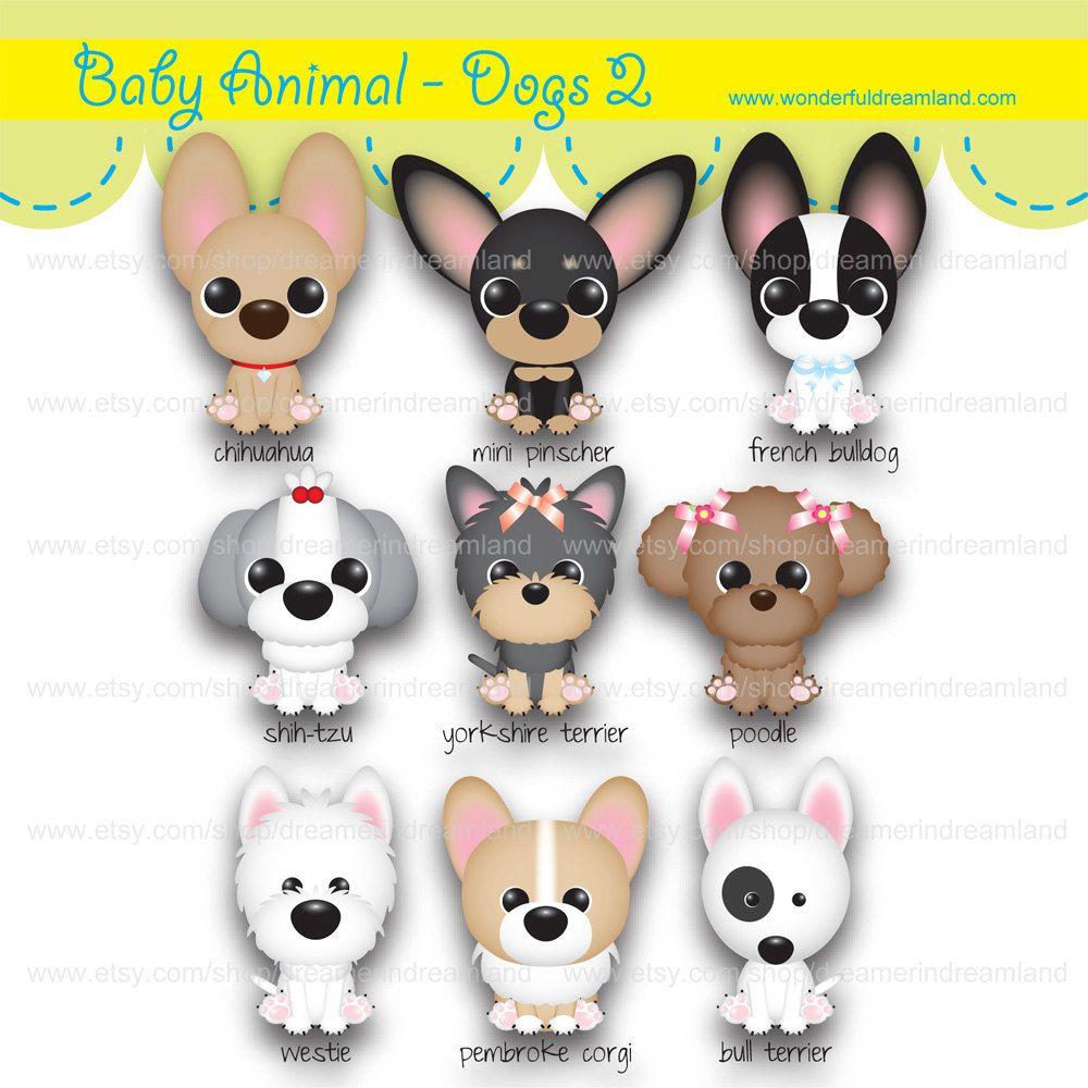 Dog Puppy Animal 2 Pdf Png Instant Download Printable Cliparts Clip Arts Digital File Scrapbooking Kit Scrapbook Kits Etsy Printables Dogs
