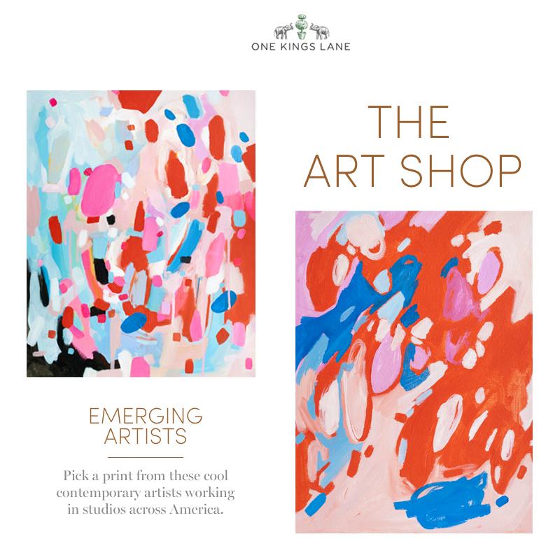 Emily Rickard Fine Art featured on One Kings Lane // The Art Shop Sale