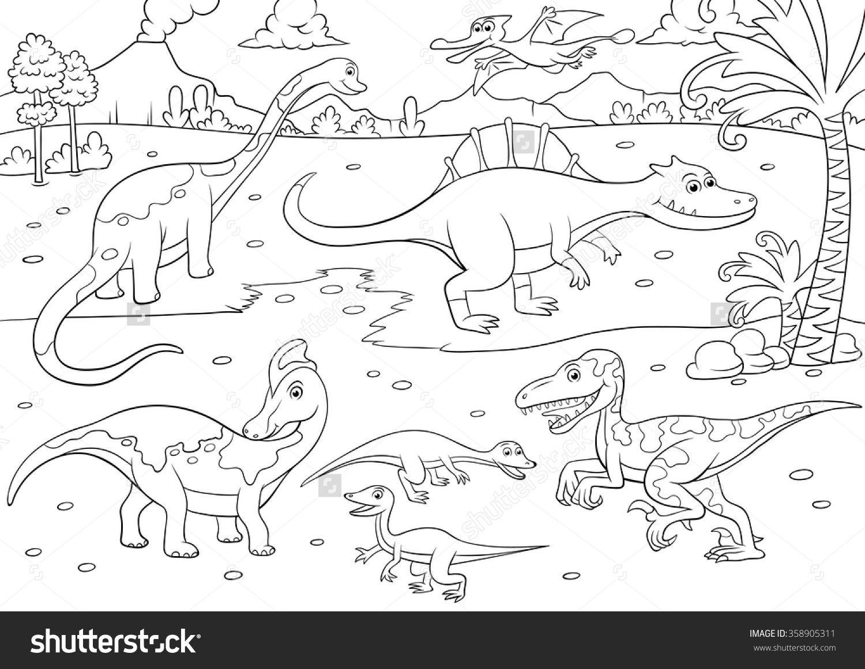 Dino Raptor Converted Stock Vector Illustratie 358905311 Shutterstock Sailor Moon Coloring Pages Dinos Dinosaur Crafts