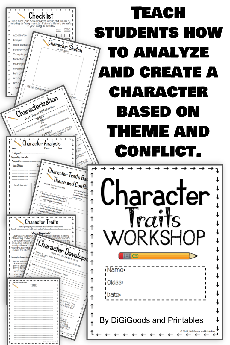 Character Traits Graphic Organizer Workshop With Narrative