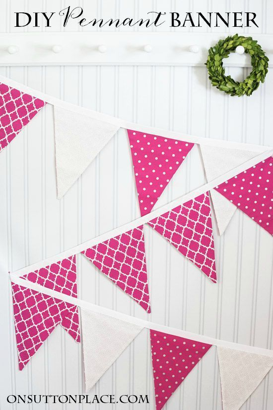 DIY Pennant Banner Sewing Tutorial Pennant banners, Banners and