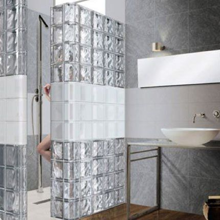 cloison en carreaux de verres | bathrooms | pinterest