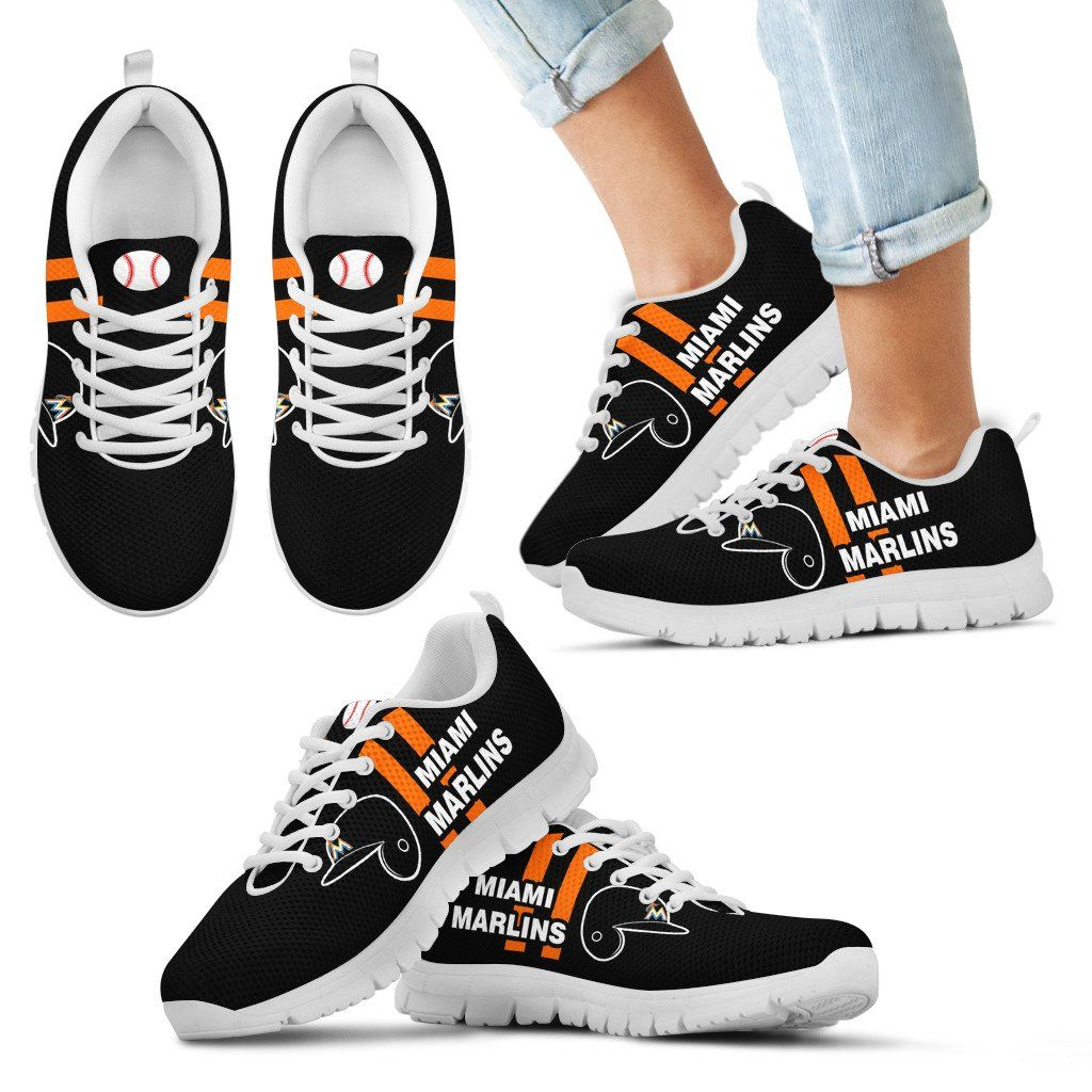 cozy fresh c298e 24755 Vertical Two Line Mixed Helmet Miami Marlins Sneakers ...