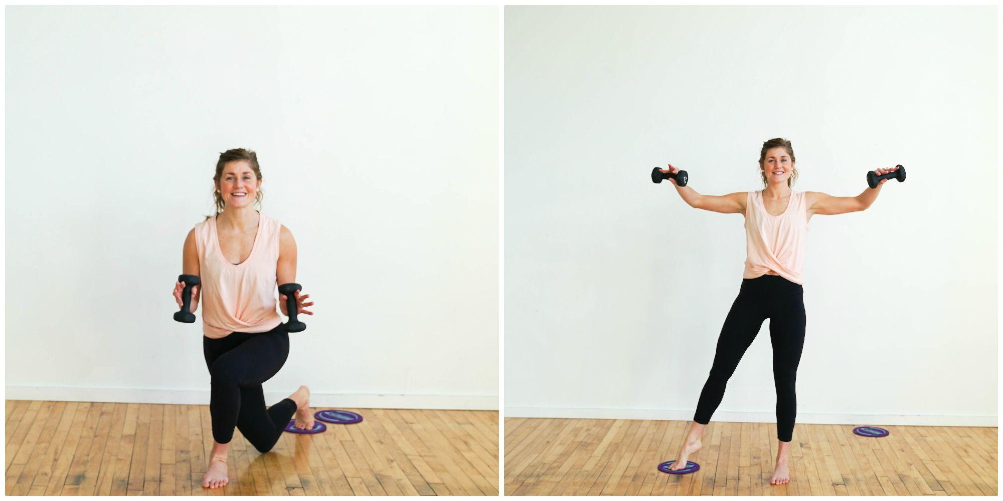AtHome Glider Disc Barre Workout Barre workout, Slider