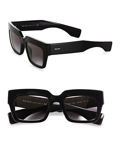 dcd193aeb5b Prada - Thick Square Sunglasses - Saks.com