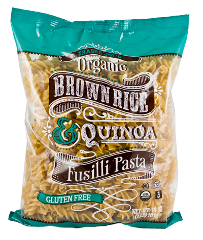 Way to go Trader Joe's!  2.00/16 oz quinoa and brown rice pasta :)