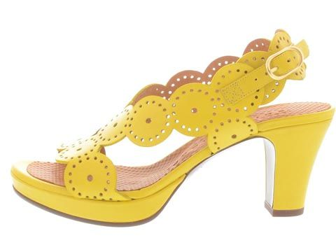Gorgeous yellow Chie Mihara shoes!