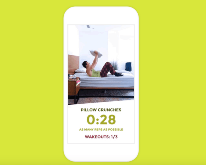 This app wants you to wake up by turning your bed into a gym
