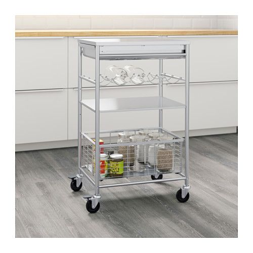GRUNDTAL Kitchen Cart IKEA Gives You Extra Storage In Your