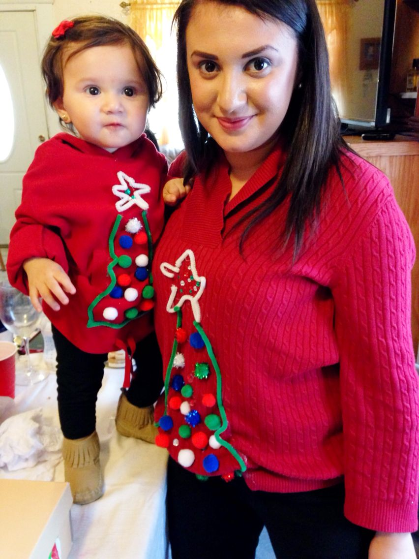 Mommy And Baby Matching Ugly Christmas Sweaters My Princess Ari