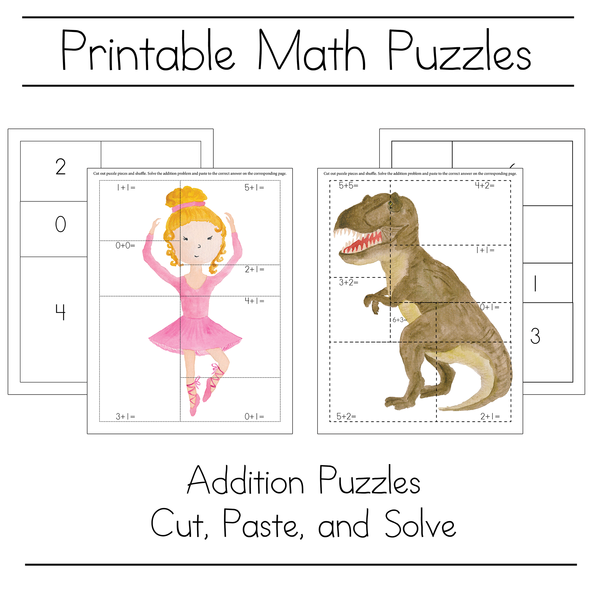 Fun Math Puzzle For Kids To Practice Math Skills - Free Download | Mathe