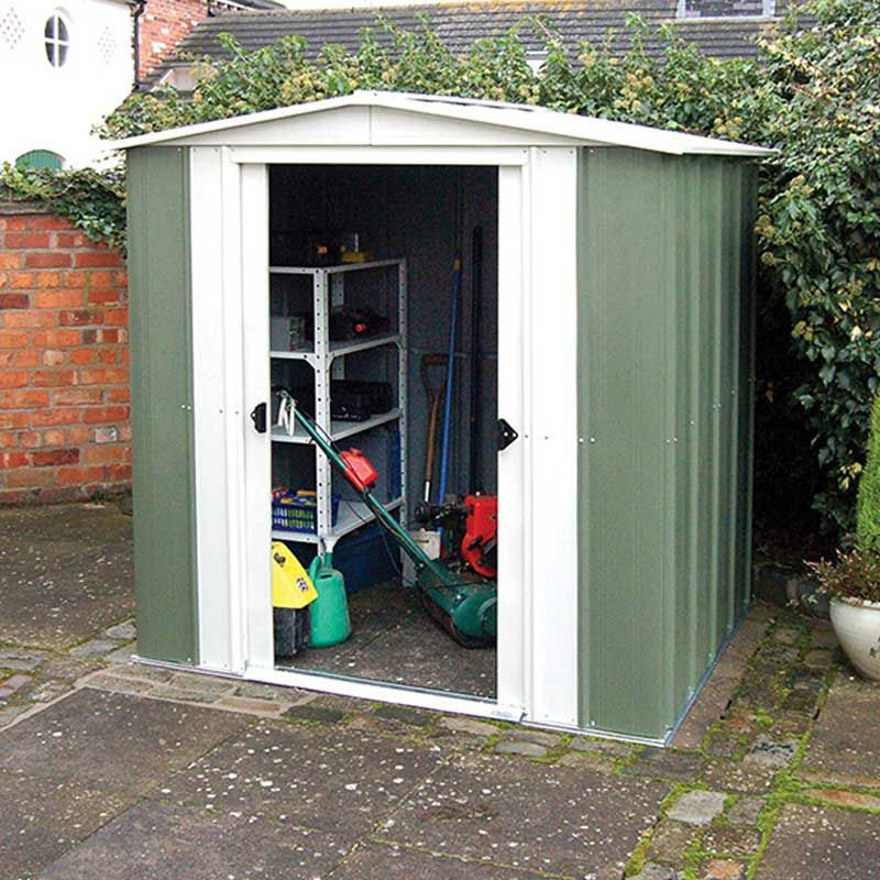 rowlinson greenvale pent metal shed 6x4 dobbies garden centres - Garden Sheds 6x4
