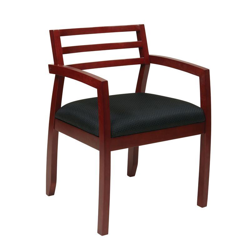 K Series Cherry Slat Back Guest Chair By Dynamic Office Services   Dynamic  Office Services