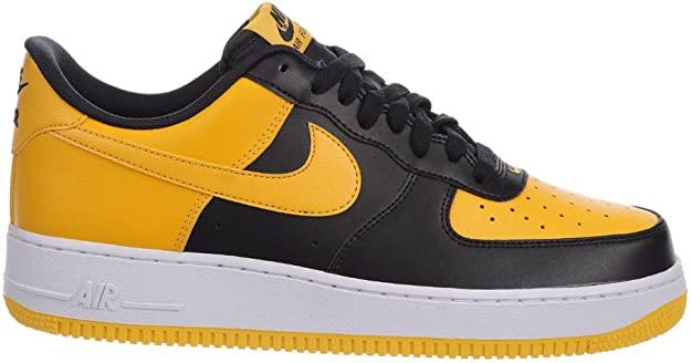 ventaja Rebotar entrega  Amazon.com   Nike Men's Air Force 1 Low Black/University Gold/White Leather  Casual Shoes 14 M US   Fashion Sneakers in 2020   Sneakers fashion,  Sneakers, Nike