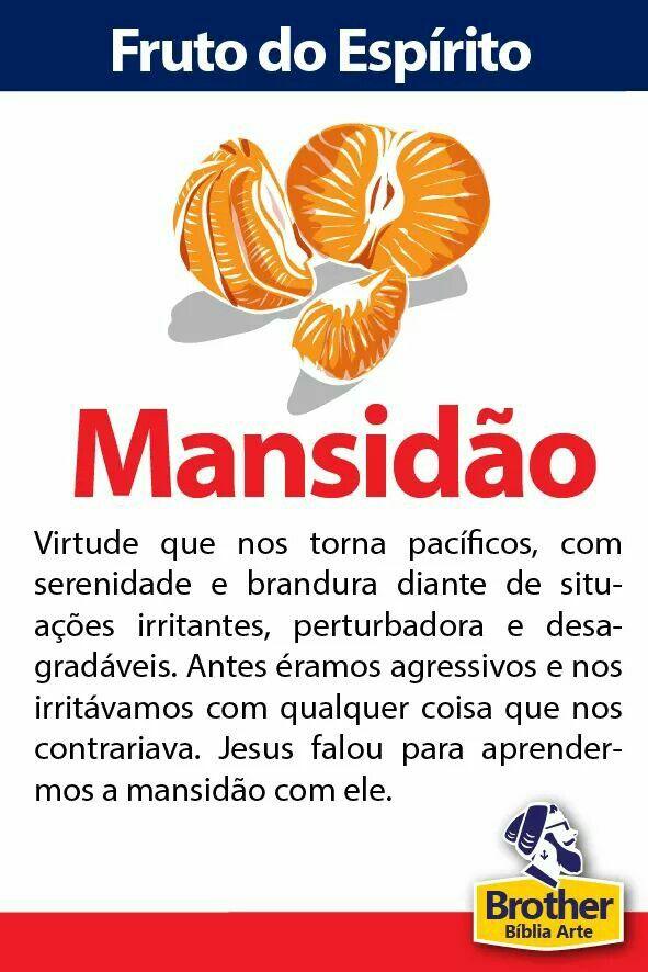 Suficiente Fruto do Espírito - Mansidão | fruto do espirito | Pinterest  HG25