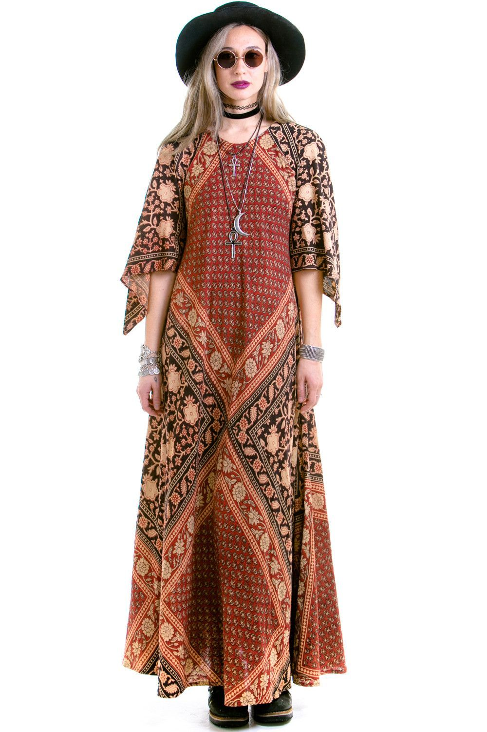 Copper bell sleeve maxi dress sml schtuff we sell pinterest