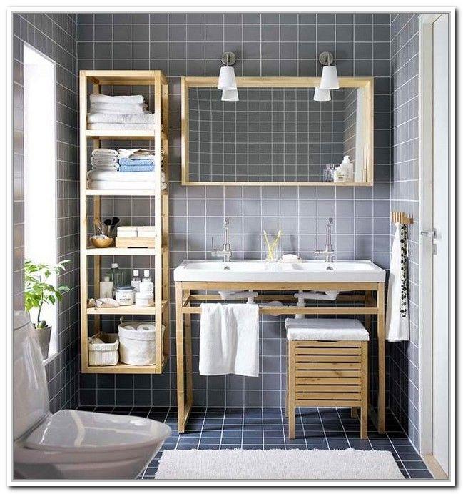diy small bathroom storage ideas. Bathroom Ideas, Wooden Diy Small Storage Ideas Near Double Sink Vanity Under Framed