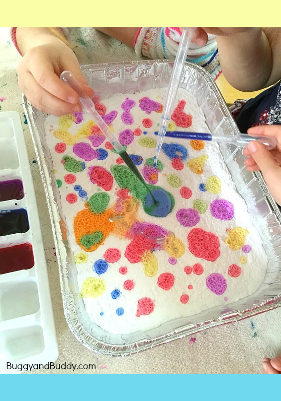 Exploring Colors With Baking Soda And Vinegar Cool Science