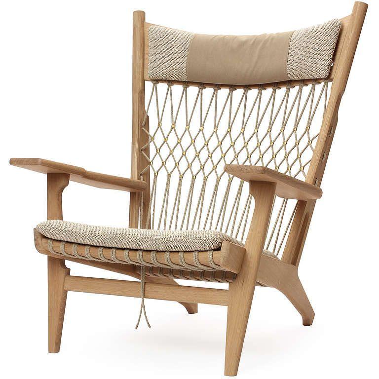 PP129 Web Chair by Hans J. Wegner for PP Møbler in Oak and