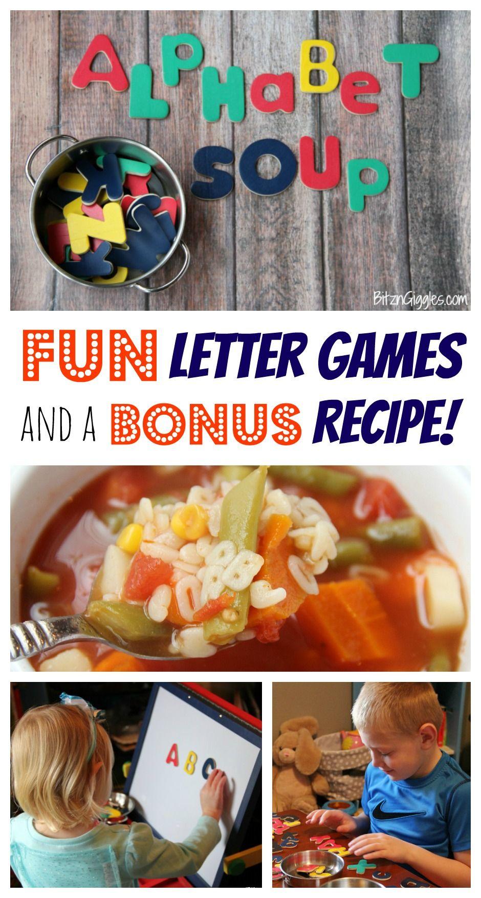 Alphabet Soup Fun Letter Games Recipe Melissa Doug Blog Letter Games Cool Lettering Alphabet Activities [ 1754 x 940 Pixel ]