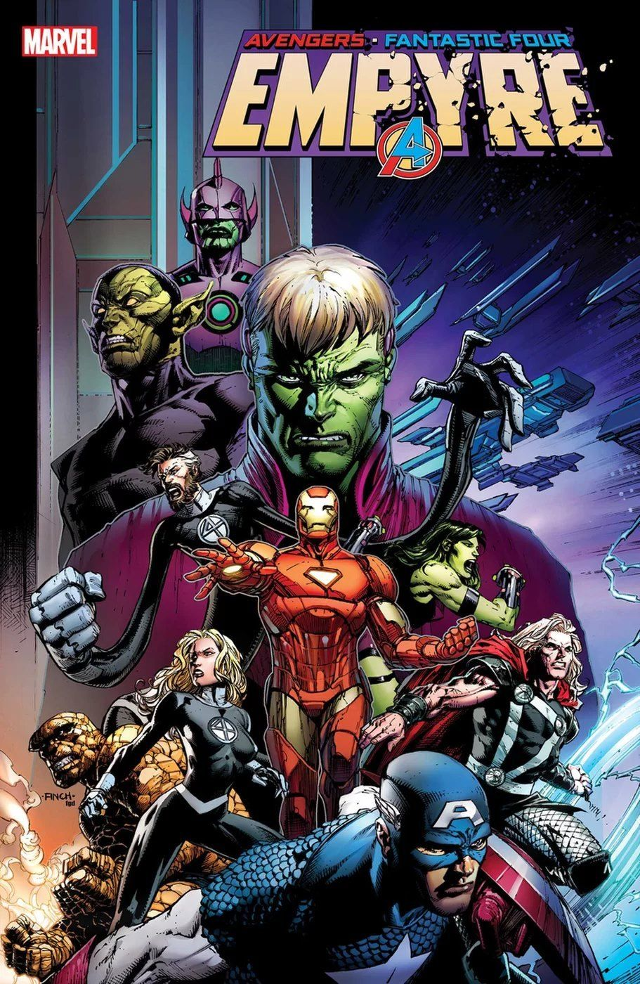 Empyre 1 Variant Cover Avengers And Fantastic Four By David Finch In 2020 Fantastic Four Marvel Marvel Marvel Comics