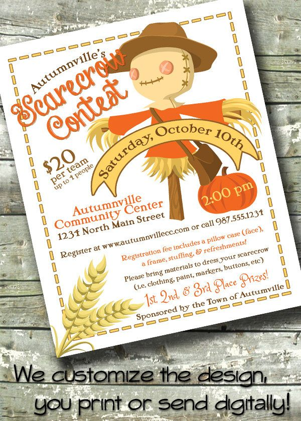 Harvest Fest ~ FALL FESTIVAL~ Church or Community Event ~ 85 - fall flyer