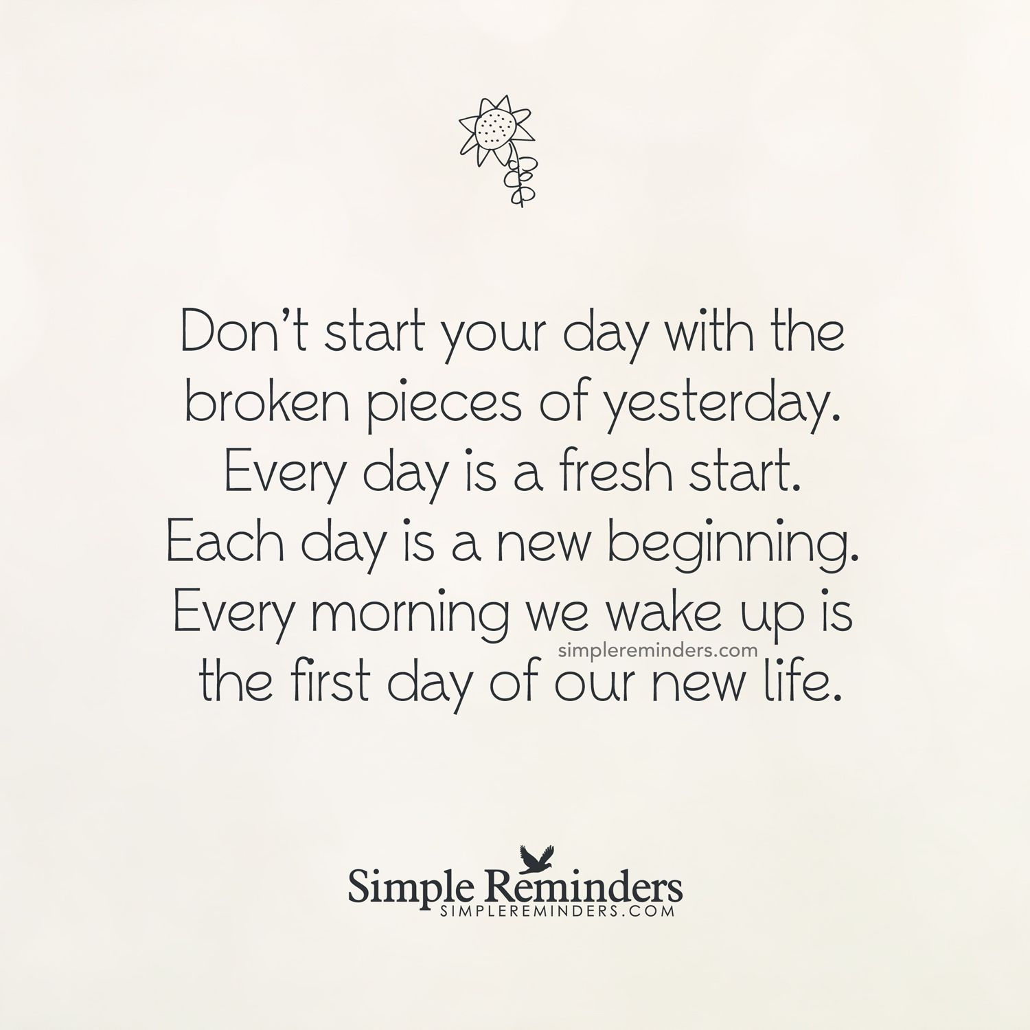 Every Day Is A Fresh Start By Unknown Author Various Sayings