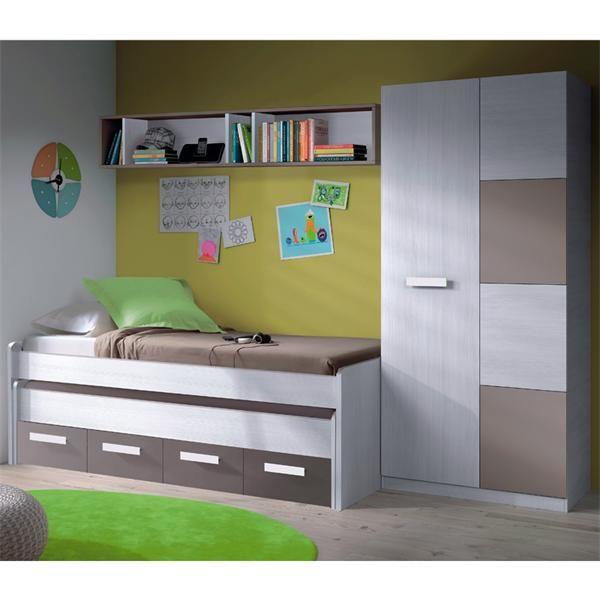 tifon-juvenil-cama-doble-cajones-barato-ambiente-arce | Móveis ...