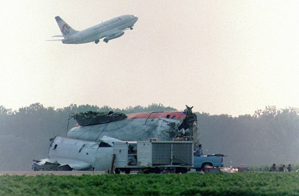 Diagram Showing The Damage To United Airlines Flight 232 A Dc 10 Airplane That Crashed In Sioux City Iowa In July 1989 Photo United Airlines Flight The Unit