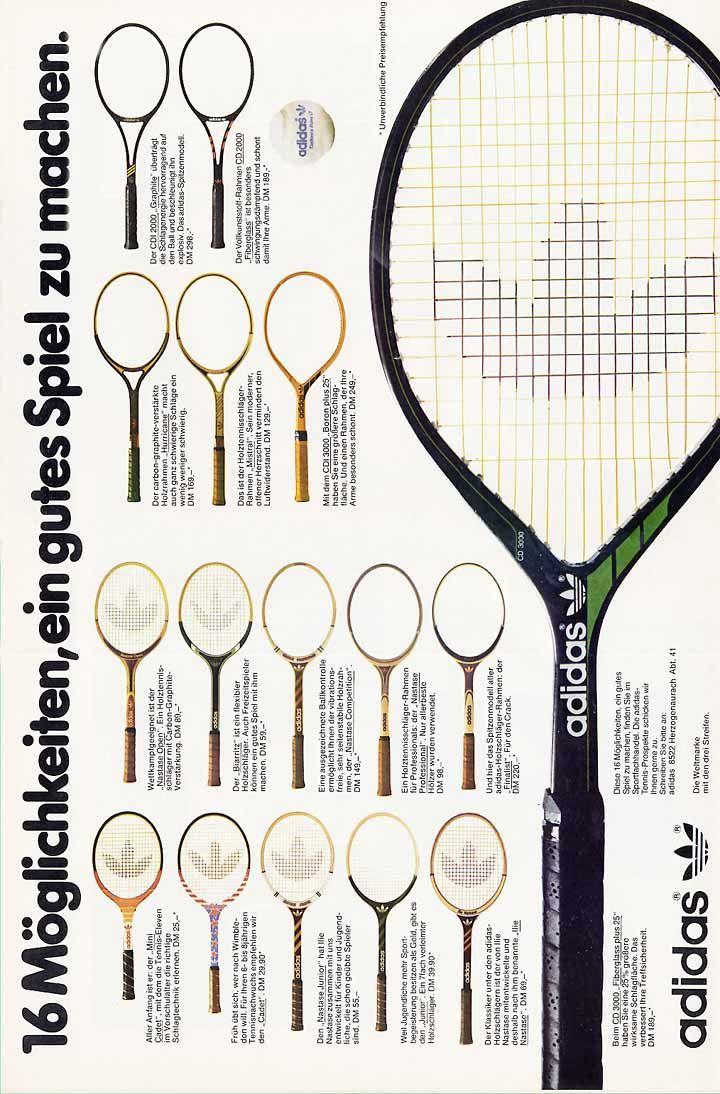 Adidas tennis racquet collection 1980   Saad\'s board (homework ...