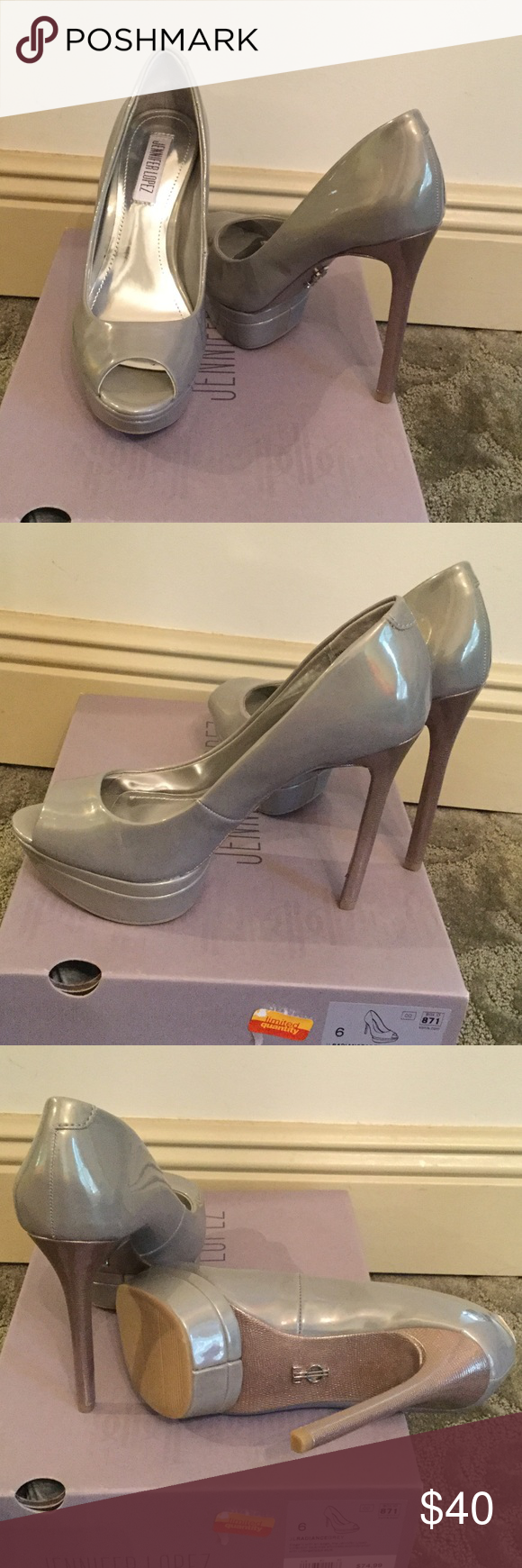 fee2a4e05ff02 Shop Women s Jennifer Lopez Gray Silver size 6 Heels at a discounted price  at Poshmark.