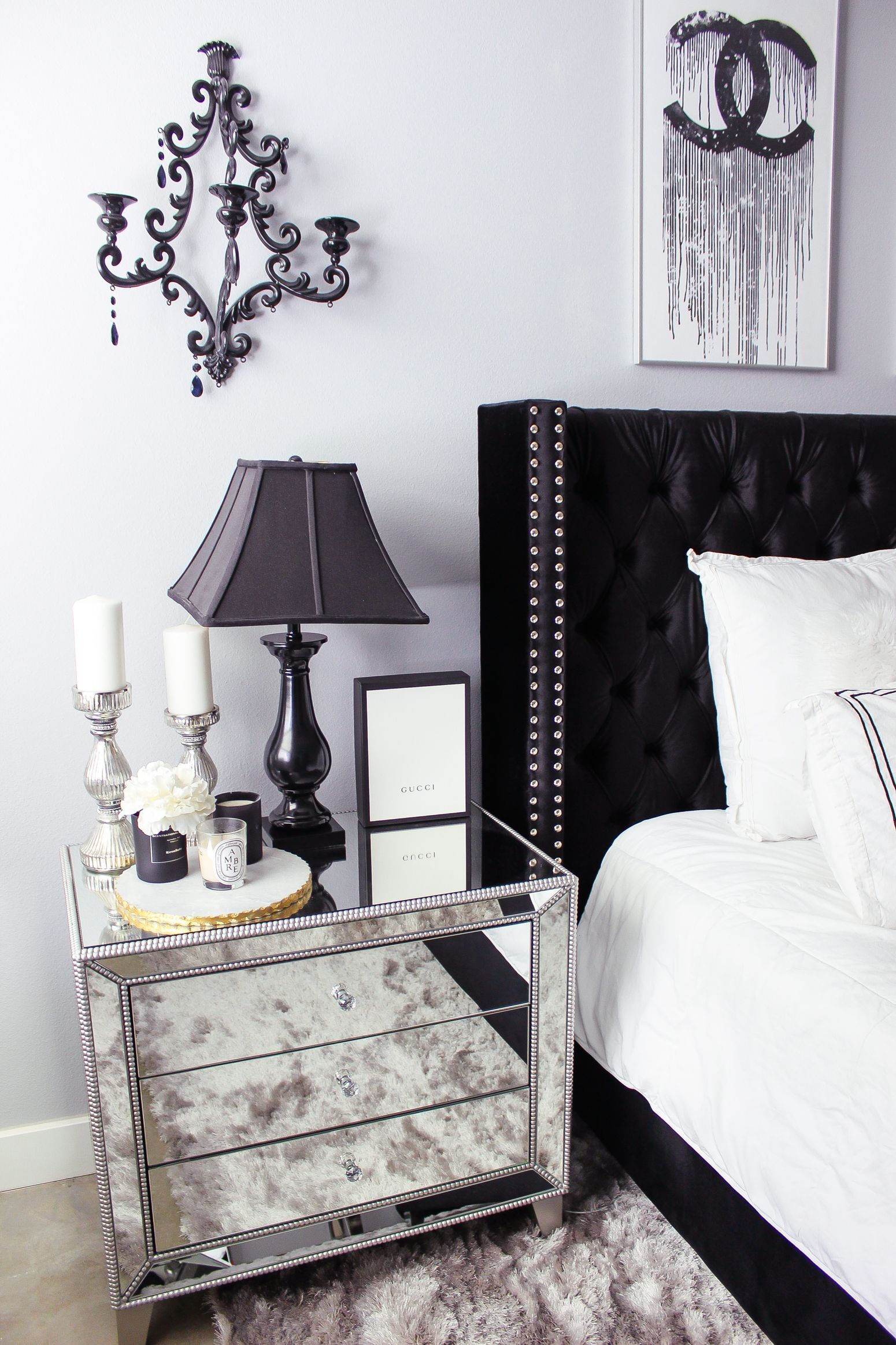 Best Black White Bedroom Decor Reveal Black Bedroom Decor 400 x 300