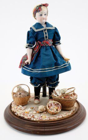 Bisque Doll in Early Bathing Dress : Lot 140