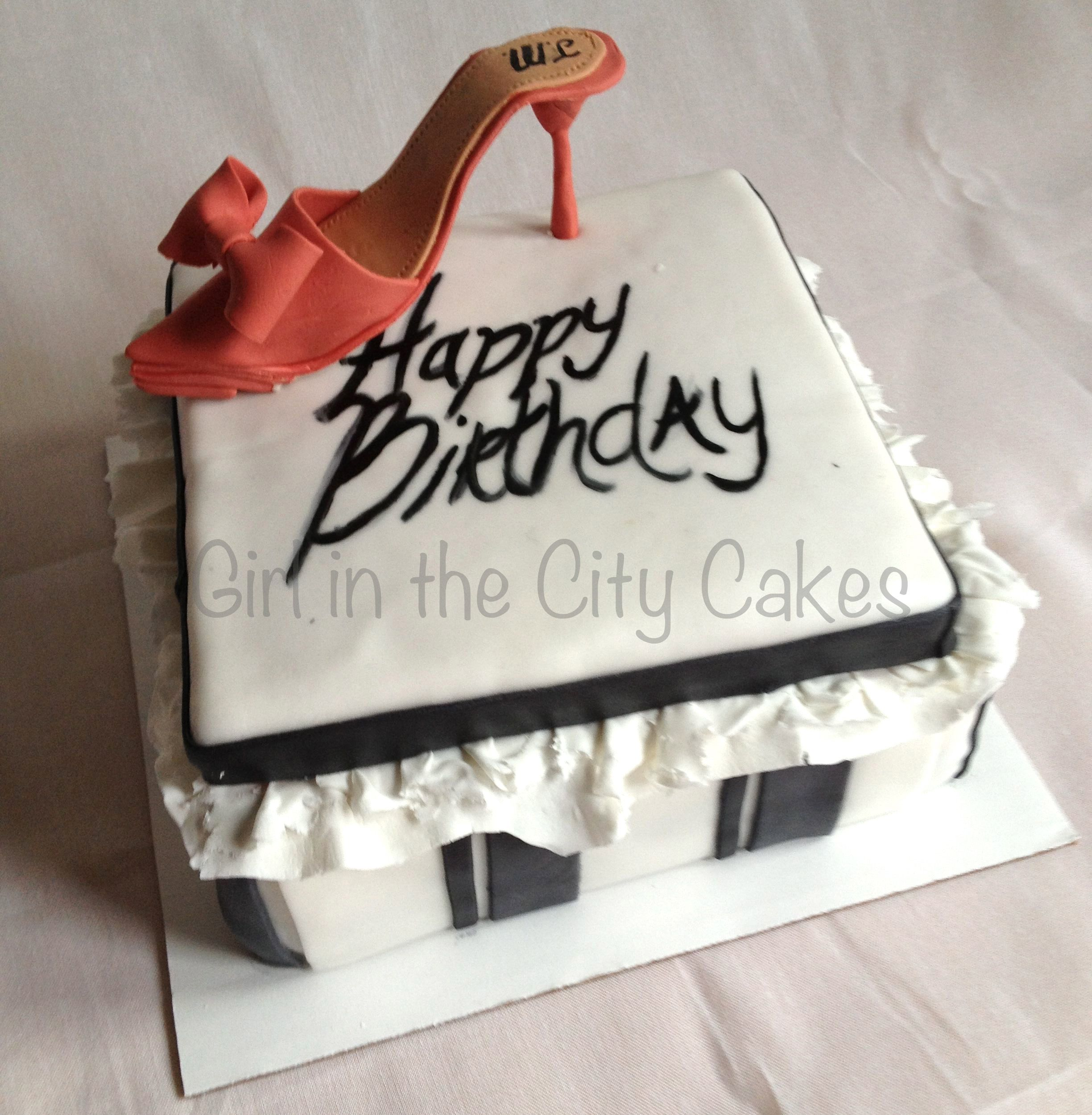 Shoebox birthday cake by Girl in the City Cakes